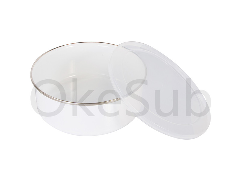 30oz 900ml Enamel Bowl with Lid(low style)