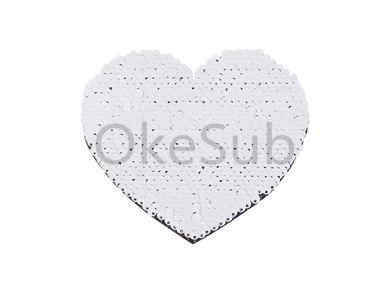 Flip Sequins Adhesive (Heart, Black with White)