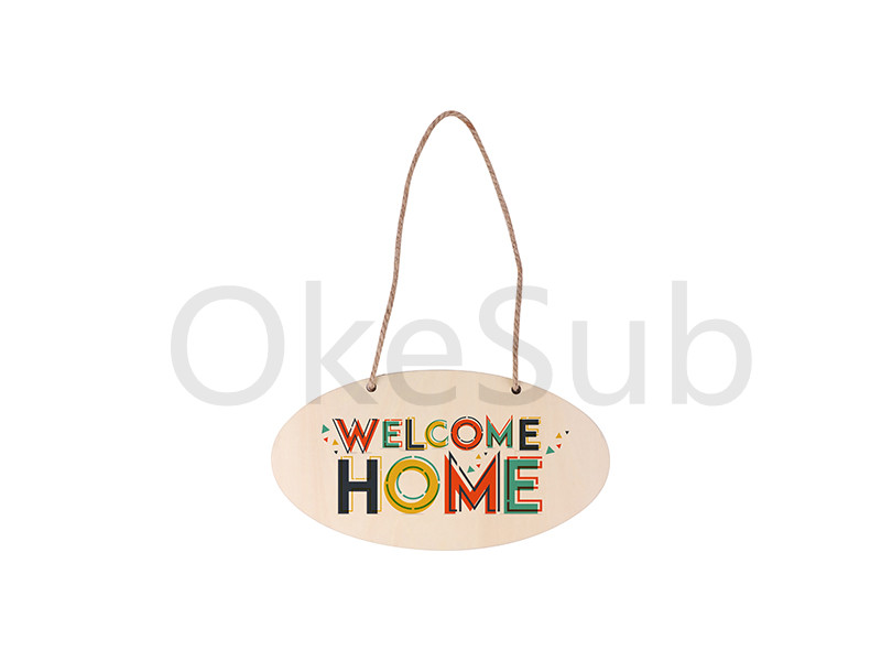 Sublimation Plywood Door Hanger (Oval, 14*26cm)