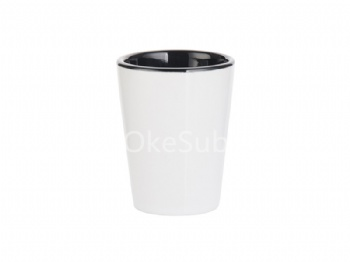 1.5oz Ceramic Shot -Two Tone Black
