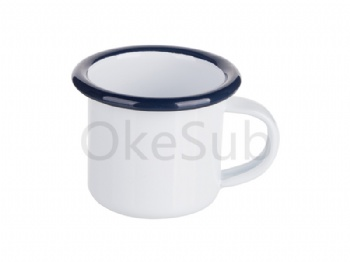 3oz100ml Enamel Mug (Blue Edge)