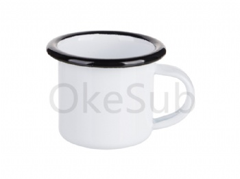 3oz100ml Enamel Mug (Black Edge)