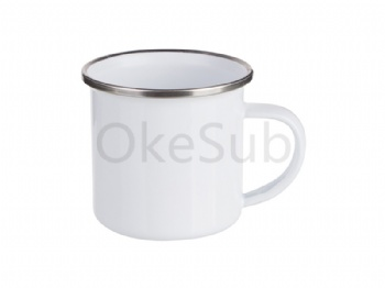 6oz 180ml White Enamel Mug