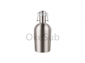 64oz 2000ml Sublimation Growler (Silver)