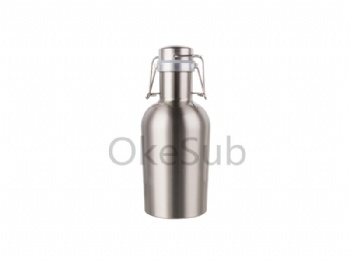 32oz 1000ml Sublimation Growler (Silver)