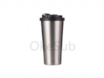 16oz Stainless Steel Tumbler with Handle(silver)