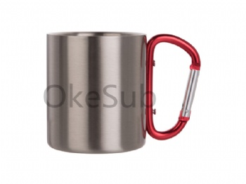 200ml Stainless Steel Mug with Carabiner Handle