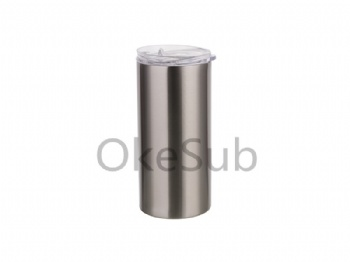 16oz 480ml Stainless Steel Tumbler with Straw & Lid (silver)