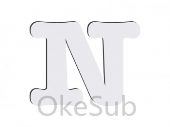 Sublimation HB Letters -N(10*10cm)