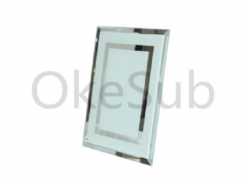 Glass Frame with Mirror Edge