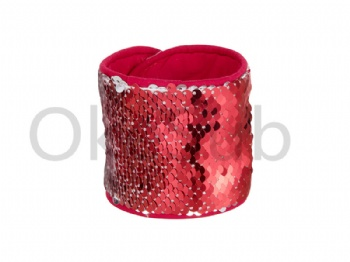 Sequin Bracelet (Red With White)