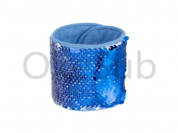 Sequin Bracelet (blueWith White)