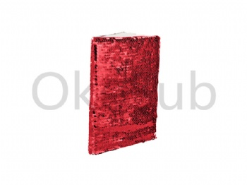 A5 Sequin Notebook (Red With White)