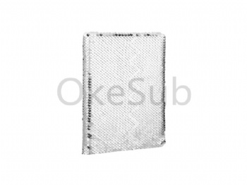 A5 Sequin Notebook (Silver With White)