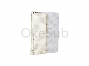 A5 Sequin Notebook (Gold With White)