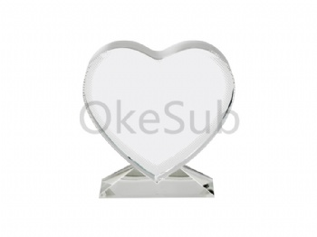 Sublimation Love Screen with Stand Crystal