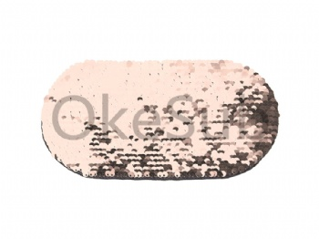 Flip Sequins Adhesive (Oval, Champagne With White)