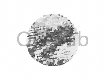 Flip Sequins Adhesive (Round, Silver With White)
