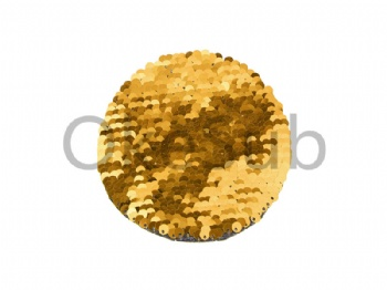 Flip Sequins Adhesive (Round, Gold With White)