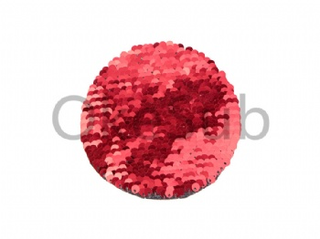 Flip Sequins Adhesive (Round, Red With White)