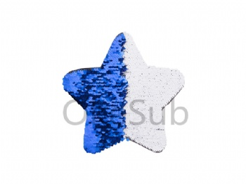 Flip Sequins Adhesive Black Base (Star, Dark blue With White)