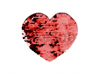 Flip Sequins Adhesive (Heart, Red with White)