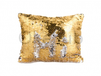 Sequin Makeup Bag Or Pencil Case (Gold With White)