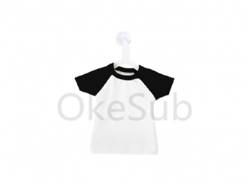 Mini T-shirt with Hanger (Collar and Sleeve in Black)