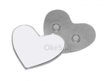 Heart Shape Metal Fridge Magnet